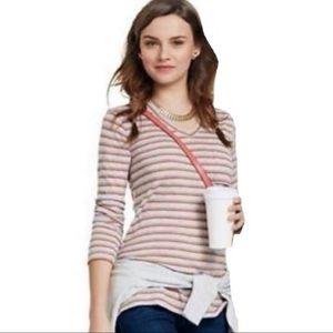 CAbi Striped Skipper Gray Top T-Shirt